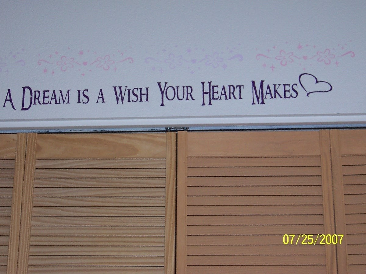 disney wall decal quote children a dream is a wish your heart zoom