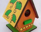 Handpainted Indoor-Outdoor Ginko Birdhouse