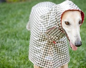 Dog Raincoat Slicker - Houndstooth - Large Breed