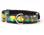1 inch Martingale Collar - Disco Daisies - Free Shipping