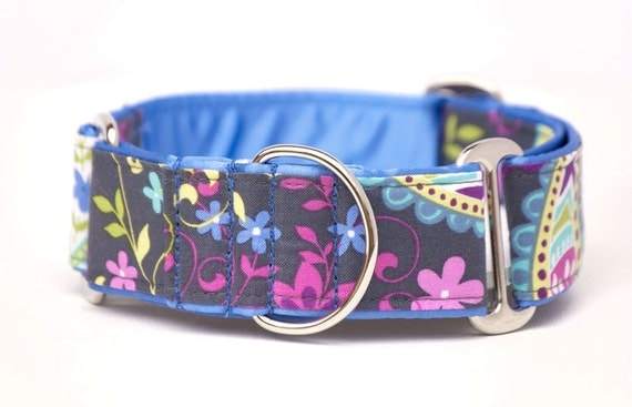 1.5 inch Martingale Collar - Paisley Spree - Free Shipping