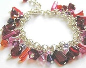 Shades of Red Bracelet with Ruby Red thru to Soft Pink Swarovski Crystals