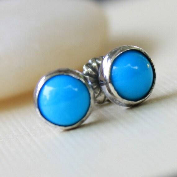 Turquoise Ear Studs - Sleeping Beauty 6mm Small