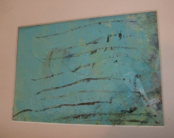 LET IT BE No 43 - Original Abstract Painting - 5x7 inches, Matted