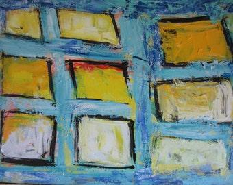 SALE - Nine Windows - Original Abstract Painting