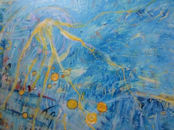 SECRET 4 - Original Absract painting
