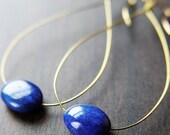 Lapis Blue Teardrop Earrings 14k Gold