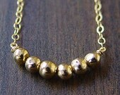 Delicate Round Gold Bead Necklace