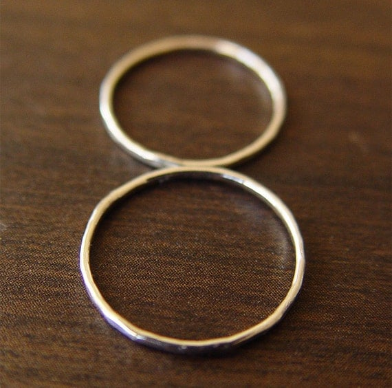 Delicate Double Knuckle Ring in Silver