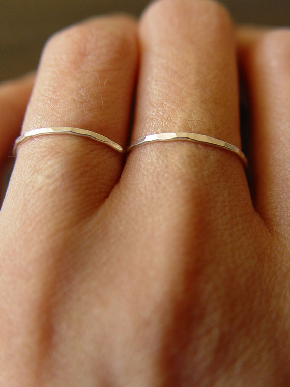 Delicate Silver Double Ring
