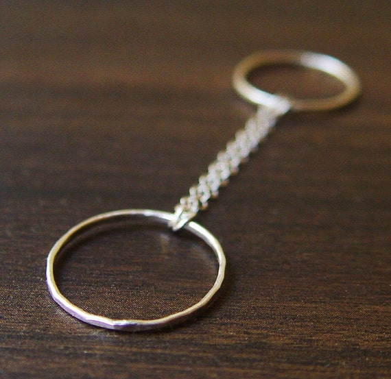 Silver Double Chain Ring