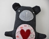 HEART BEAR - RUBY