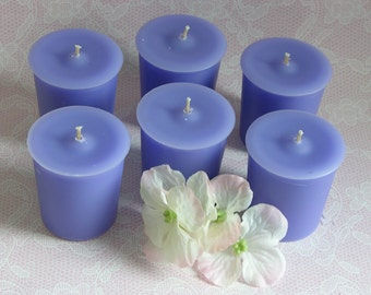 WATER IVY Scented Votive Candles - Set Of 6 - Gift Boxed - Delicate - Floral - Ethereal - Handmade Candles - Made In USA - Highly Scented