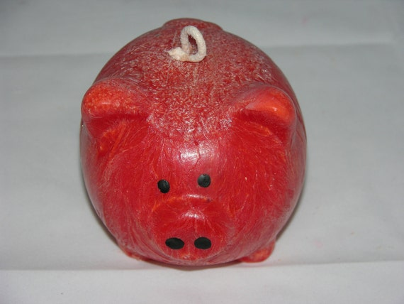 CUTE PIG CANDLE - Strawberries & Cream Scented - Hand Poured - Unique - Cute - Farm Animal - Gift Candle - Palm Wax - Last One