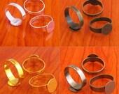 40pcs MIXED 10mm pad  Adjustable blank ring base