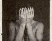 Polaroid transfer emulsion lift black and white 6x6 fine art print giclee