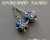 TUTORIAL - earrings - EMBELLISHED SQUARES - immediate download