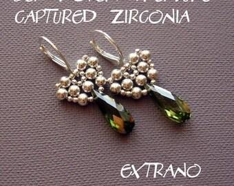 TUTORIAL - earrings - CAPTURED ZIRCONIA - immediate download
