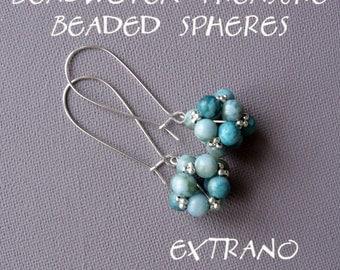 TUTORIAL - earrings, beaded bead - SIMPLE SPHERES - immediate download