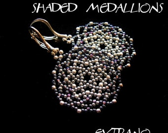 TUTORIAL - earrings - SHADED MEDALLIONS - immediate download