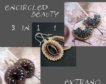 TUTORIAL - earrings - ENCIRCLED BEAUTY 3 in 1 - immediate download