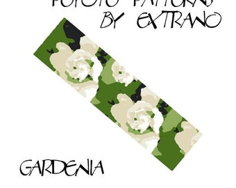 Peyote Bracelet Pattern by Extrano -  GARDENIA - 6 colors ONLY - 3 different versions of pattern - Instant download