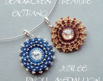 Swarovski Rivoli Pattern - Jubilee Rivoli Medallion - immediate download