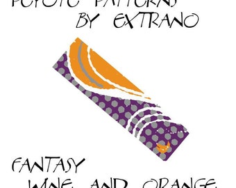 Peyote Bracelet Patterns by Extrano - WINE & ORANGE - 4 colors ONLY - Instant download