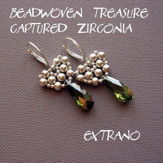 TUTORIAL - earrings - CAPTURED ZIRCONIA - immediate download