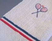 Vintage Tennis Towel Sears and Roebuck SALE