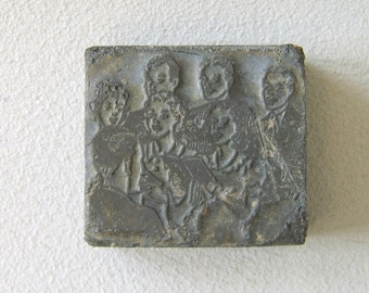 Vintage Zinc Printer's Block Choir Glee Club Engraved