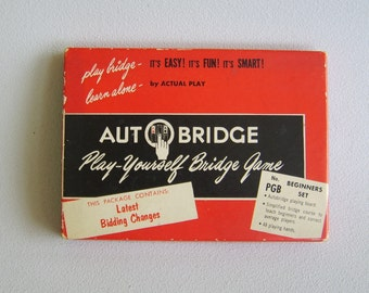 Vintage Autobridge Play Yourself Bridge Game Beginners Set 1959 Edition