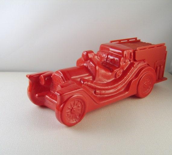 Vintage Avon Fire Truck Red Cologne Bottle Decanter RESERVED HARTMAN