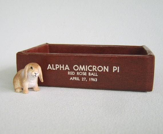 Vintage Red Rose Ball Souvenir Alpha Omicron Pi Sorority