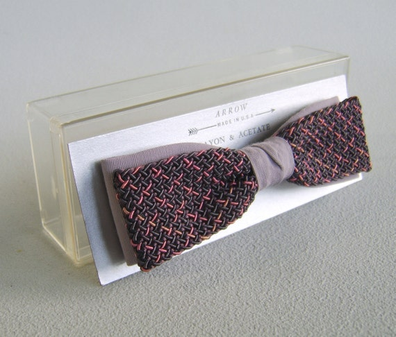 Vintage Men's Arrow Bowtie New in Package Sixties Clip On