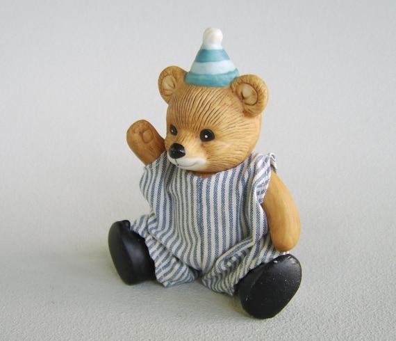 Vintage Homco Ceramic Teddy Bear Boy Figurine By