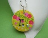 Personalized Pendant - Cherries Galore - Your Choice of Letter