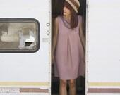 SAMPLE SALE Half Price Asymmetrical Dress, Old Rose