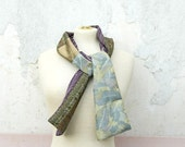 Silk Scarf from Vintage Kimono, Morning Mist - karmologyclinic