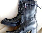 Tommy Hilfiger cutout gladiator boots, sz. 7, repurposed