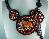 Paisley Horse wearable as a Necklace or Brooch