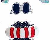 Blue Beach Girl welcome sign Outfit