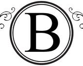 Custom famiy monogram with embelishments... vinyl lettering... buy any 2 get 1 FREE