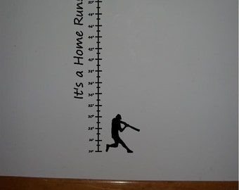 Child's Vinyl baseball growth chart...Buy 2 get 1 FREE