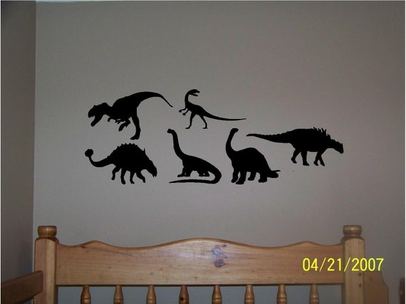 Dinosaur Decals 6 different styles...vinyl lettering...BUY 2 GET 1 FREE