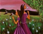 Capturing Spring II (Archival Print 8 x 8), Sisterhood Series