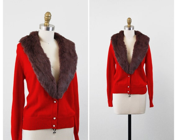Red Sweater With Fur Collar 33