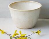 Flower Pot - Planter - Creamy White - Handmade Ceramic  Rustic Planter - Stoneware Pottery