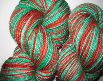 Country Christmas- Hand-painted Superwash Merino Wool 430 + yds. per skein