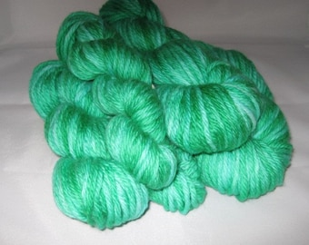Frosted Pine- Hand-dyed Superwash Merino Wool 100 yds. per skein Bulky Yarn